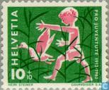 Postage Stamps - Switzerland [CHE] - Child and duck