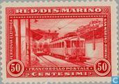 Postzegels - San Marino - Spoorwegen