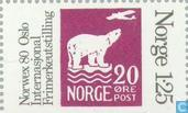 Briefmarken - Norwegen - 125 grau / violett