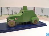 """De gepantserde mitrailleursauto uit """"De Blauwe Lotus"""""""