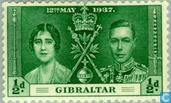 Postage Stamps - Gibraltar - Coronation of George VI