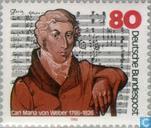 Postzegels - Duitsland, Bondsrepubliek [DEU] - Carl Maria von Weber 200 jaar