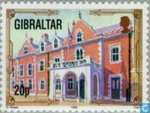Timbres-poste - Gibraltar - Du patrimoine architectural