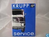 Emaille Bord : Krupp Service