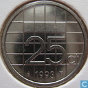 Coins - the Netherlands - Netherlands 25 cents 1993