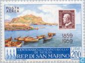 Timbres-poste - Saint-Marin - Timbre anniversaire Sicile