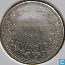 Coins - the Netherlands - Netherlands 25 cent 1904