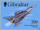 Postage Stamps - Gibraltar - Falcons and fighters