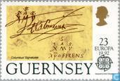 Postzegels - Guernsey - Europa – Ontdekking van Amerika