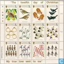 Postage Stamps - Guernsey - The twelve days of Christmas