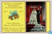 Postage Stamps - Jersey - Queen Elizabeth II-Wedding Anniversary