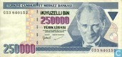 Turquie 250.000 Lirasi