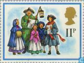Postage Stamps - Great Britain [GBR] - Christmas - musicians and singers