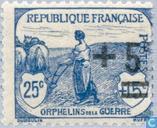 Briefmarken - Frankreich [FRA] - Kriegswaisen, mit Aufdruck
