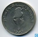Munten - Tunesië - Tunesië 1 dinar 1990