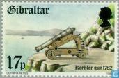 Timbres-poste - Gibraltar - Forteresses