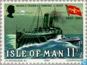 Postage Stamps - Man - Steamboat Company Man 1830-1980