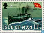 Postzegels - Man - Stoombootmaatschappij Man 1830-1980