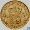 Netherlands 10 gulden 1917