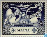 Timbres-poste - Malte - 75 ans de l'UPU
