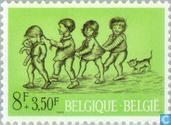 Postage Stamps - Belgium [BEL] - Children's Games