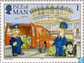 Timbres-poste - Man - de distribution de courrier