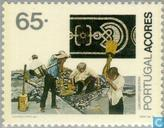 Timbres-poste - Açores - Professions