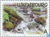 Postzegels - Luxemburg - Europa – Water, natuurlijke rijkdom