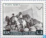 Postzegels - San Marino - Vlucht Garibaldi