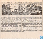 Comic Books - Bumble and Tom Puss - Tom Poes en de grote Barribal