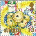 Postzegels - Guernsey - Kerstmaaltijd
