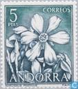 Postzegels - Andorra - Spaans - Bloemen