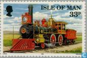 Postage Stamps - Man - USA-Transcontinental Railroad