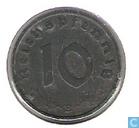Monnaies - Allemagne - Empire allemand 10 reichspfennig 1942 (B)