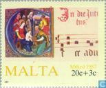 Timbres-poste - Malte - Scènes bibliques