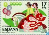 Postage Stamps - Spain [ESP] - Large Spanish popular festivals