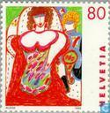 Postage Stamps - Switzerland [CHE] - Art of women