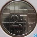 Monnaies - Pays-Bas - Pays-Bas 25 cents 1991