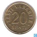 Munten - Estland - Estland 20 senti 1996