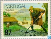 Postage Stamps - Azores - 550th anniversary of establishment on Azores