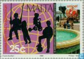 Timbres-poste - Malte - UNICEF 50 années