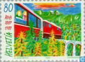Chemin de fer rhétique 100 années