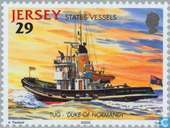 Postage Stamps - Jersey - Boats