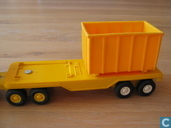 Modelauto's  - Tonka - Tiny tonka flatbed with container