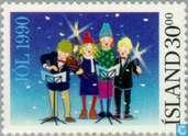 Postzegels - IJsland - Kinderen