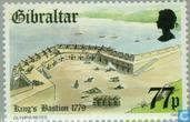 Briefmarken - Gibraltar - Festungen