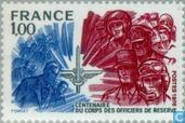 Postage Stamps - France [FRA] - Centenary reserve officers 1876-1976