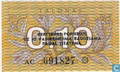 Bankbiljetten - Lietuvos Respublika - Litouwen 0,10 Talonas