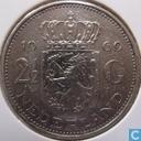 """Netherlands 2½ gulden 1969 (rooster) """"v1k1"""""""