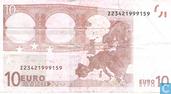Billets de banque - Duisenberg, imprimé par la Banque Nationale de Belgique (Belgique, Bruxelles) pour la Belgique - € 10 TZD